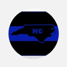 Thin Blue Line - North Carolina Button