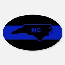Thin Blue Line - North Carolina Decal