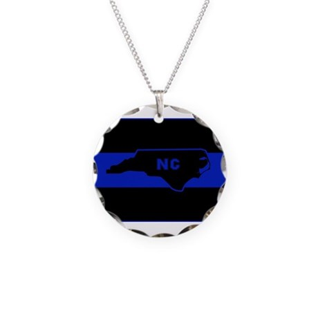 thin blue line carol necklace circle charm by