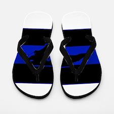 Thin Blue Line - North Carolina Flip Flops