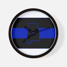 Thin Blue Line - Alabama Wall Clock