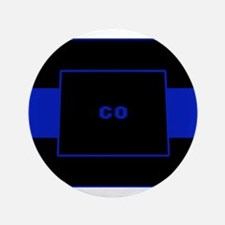Thin Blue Line - Colorado Button