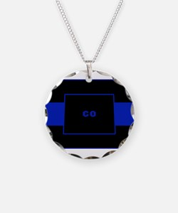 Thin Blue Line - Colorado Necklace
