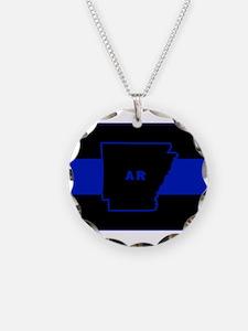 Thin Blue Line - Arkansas Necklace