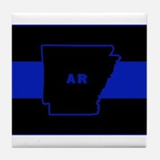 Thin Blue Line - Arkansas Tile Coaster