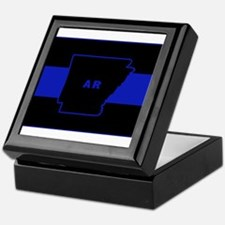Thin Blue Line - Arkansas Keepsake Box