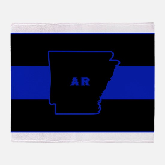 Thin Blue Line - Arkansas Throw Blanket