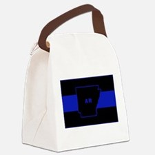 Thin Blue Line - Arkansas Canvas Lunch Bag