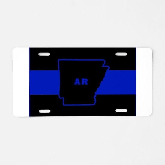 Thin Blue Line - Arkansas Aluminum License Plate