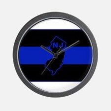 Thin Blue Line - New Jersey Wall Clock