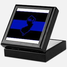 Thin Blue Line - New Jersey Keepsake Box