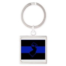 Thin Blue Line - New Jersey Keychains