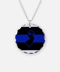 Thin Blue Line - New Jersey Necklace