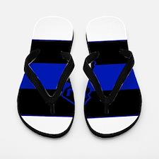 Thin Blue Line - New Jersey Flip Flops