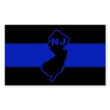 Thin Blue Line - New Jersey Decal