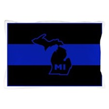 Thin Blue Line - Michigan Pillow Case