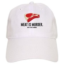 Meat Is Murder. Tasty, Tasty, Murder. Baseball Baseball Cap