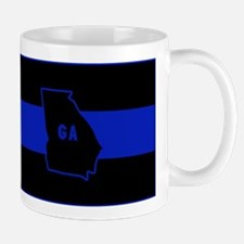 Thin Blue Line - Georgia Mugs