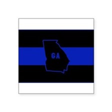 Thin Blue Line - Georgia Sticker