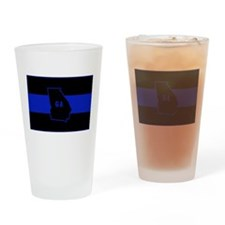 Thin Blue Line - Georgia Drinking Glass