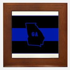 Thin Blue Line - Georgia Framed Tile