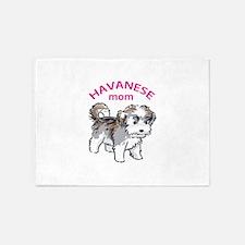 Havanese Mom 5'x7'Area Rug