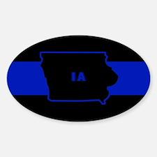 Thin Blue Line - Iowa Decal
