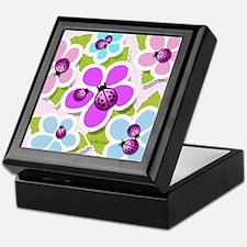 Ladybugs & Flowers Keepsake Box