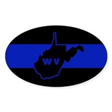 Thin Blue Line - West Virginia Decal