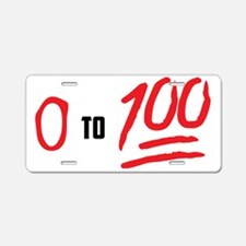 0 to 100 Aluminum License Plate