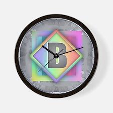 Rainbow Splash B Wall Clock