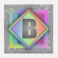 Rainbow Splash B Tile Coaster