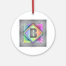 Rainbow Splash B Round Ornament
