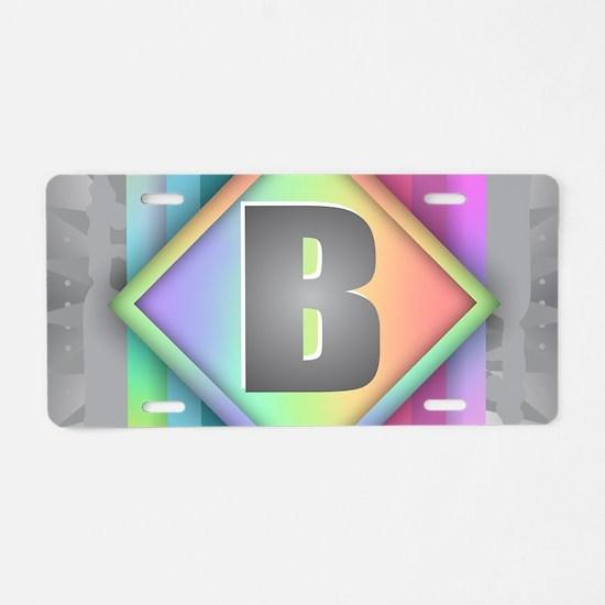 Rainbow Splash B Aluminum License Plate