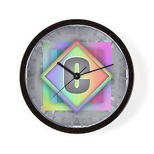 Rainbow Splash C Wall Clock