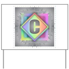Rainbow Splash C Yard Sign