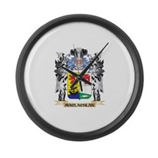 Maclachlan Coat of Arms - Family Large Wall Clock