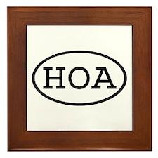 HOA Oval Framed Tile
