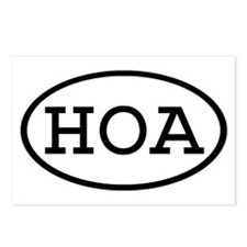 HOA Oval Postcards (Package of 8)