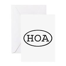 HOA Oval Greeting Card