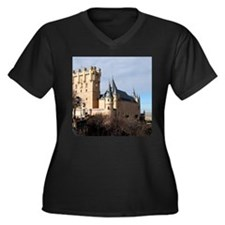 SEGOVIA CAST Women's Plus Size V-Neck Dark T-Shirt