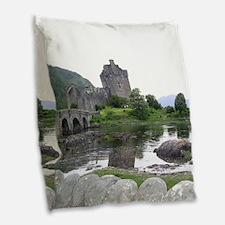 SCOTLAND EILEAN DONAN Burlap Throw Pillow