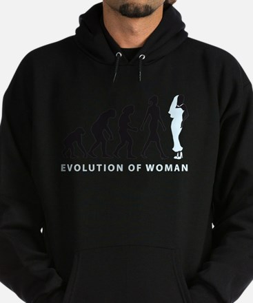 evolution of woman bride white wedding Hoodie