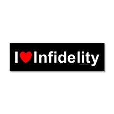 Infidelity Car Magnet 10 x 3