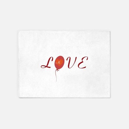 Cute Love 5'x7'Area Rug