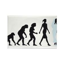 evolution of woman bride white wedding Magnets