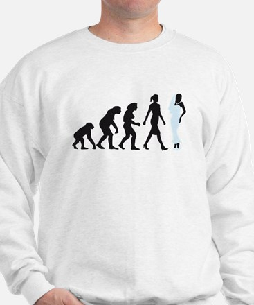 evolution of woman bride white wedding Sweatshirt