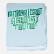 American Against Trump baby blanket