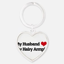 Cute Hairy Heart Keychain