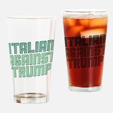 Italian Against Trump Drinking Glass